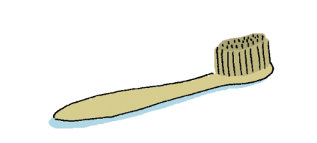 bamboo toothbrush illustration